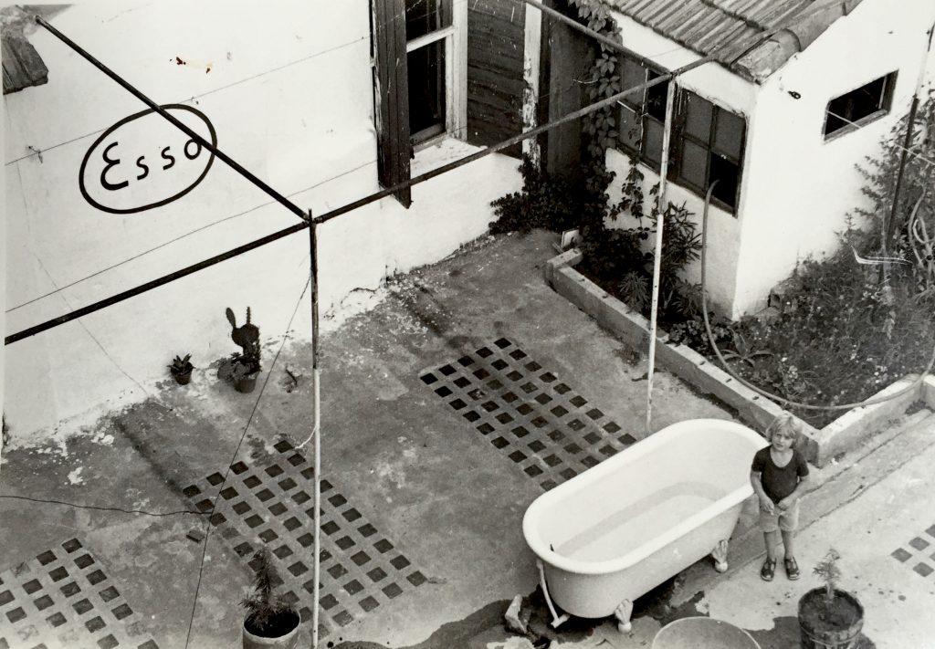 La baignoire sur la terrasse